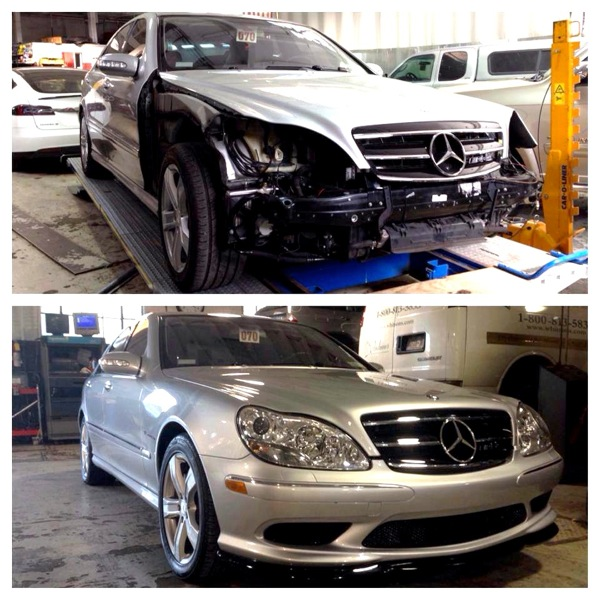mercedes benz collision body shop at precision auto