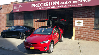 Precision Auto Works of LIC is a high quality, high end Acura Honda Nissan Infiniti Fiat Chrysler Volkswagen Tesla Cadillac certified body shop in Long Island City, NYC 11101.