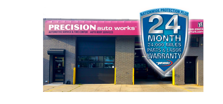 Precision Auto Works of LIC specializes in high quality repair and collision body work and is certified by Ford, GM, Chrysler, Nissan, Infiniti, Jeep and Fiat.