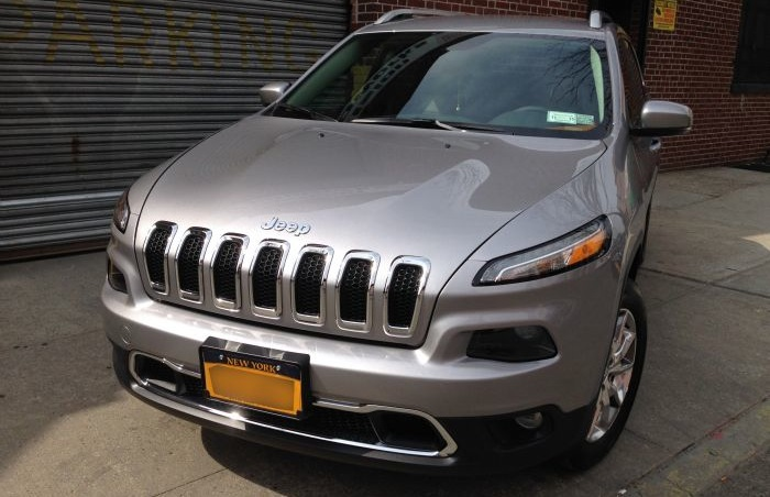 Precision Auto Works of Long Island City client Jeep after collision repair work.